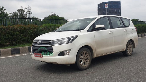 Spy Pics: Toyota Innova Crysta CNG Production Ready Model Spotted Testing Ahead Of Launch