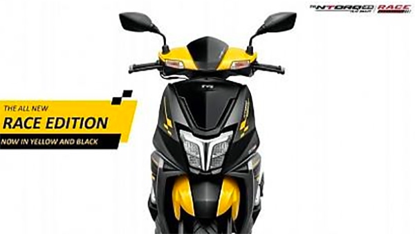 TVS Ntorq Race Edition In Yellow Paint Scheme Leaked Ahead Of Launch: Details