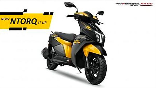 TVS Ntorq Race Edition In Yellow Paint Scheme Leaked Ahead Of Launch: Here Are All Details
