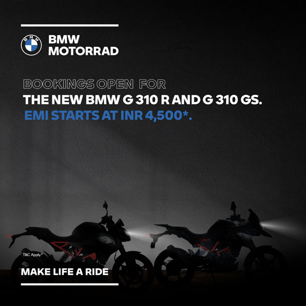 BMW G 310 R, G 310 GS BS6 Low EMI Finance Scheme Introduced Ahead Of Launch
