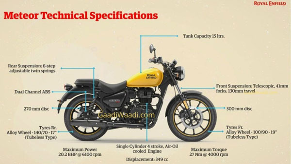 Royal Enfield Meteor 350 Technical Details Leaked: Will Replace The Thunderbird 350 Series