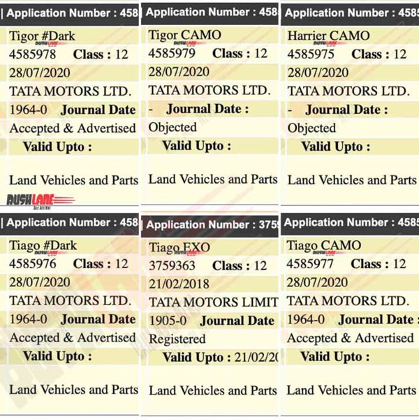 Tata Cars Camo & Dark Special Edition Models Registered: All Models To Get New Variants