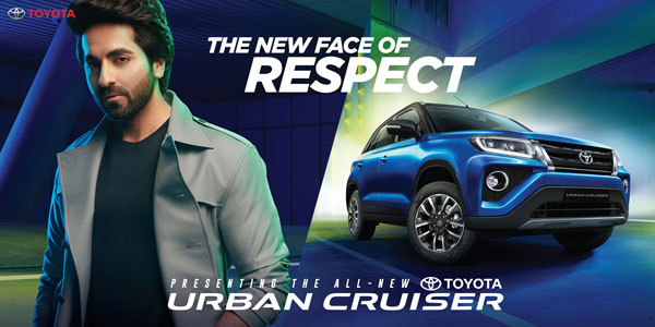 Toyota Appoints Ayushmann Khurrana As Brand Ambassador For Urban Cruiser