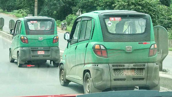 Spy Pics: Bajaj Qute BS6 Spotted Testing Ahead Of Launch In India