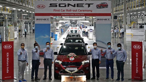 Kia Sonet India Launch: First Compact-SUV Rolled Out Of Production Line
