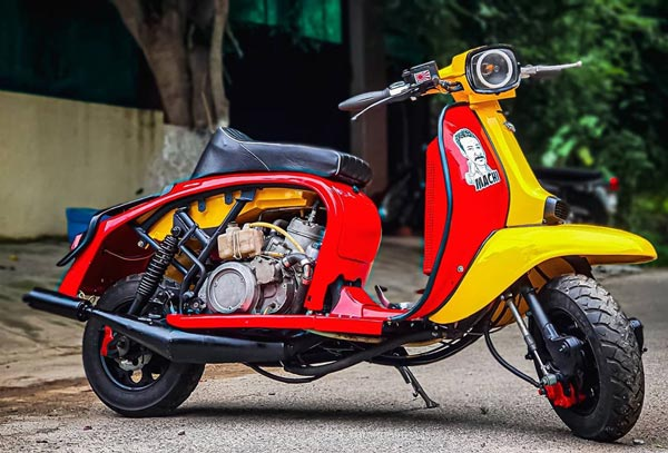 Lambretta Modified Scooter Powered By 350cc Twin-Cylinder Two-Stroke Engine: Specs, Performance & Other Details