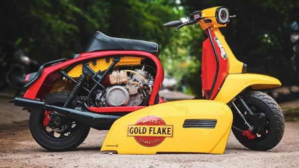 Lambretta Modified Scooter Powered By 350cc Twin-Cylinder Two-Stroke Engine: Produces 65BHP!