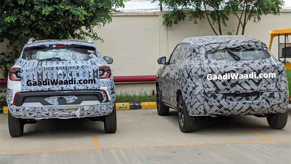Spy Pics: Renault Kiger Spotted With Nissan Magnite Revealing New Features