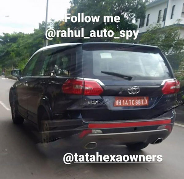 Spy Pics: Tata Hexa BS6 XMA 4X4 Variant Spotted Testing In Pune