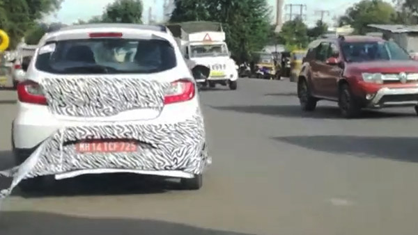 Spy Pics: New Tata Tiago NRG Variant Spotted Testing Ahead Of Launch