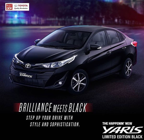 New Toyota Yaris Limited Edition Black Model Unveiled Ahead Of Launch: Details