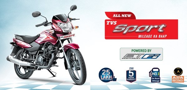 TVS Sport BS6 Registers Highest Fuel-Efficiency Of 110.12km/l: Enters Asia Book Of Records