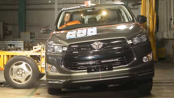 Toyota Innova Crysta Awarded 5-Star Safety Rating By ASEAN NCAP