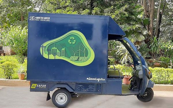 Kinetic Safar Jumbo Electric Cargo 3-Wheeler Launch