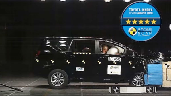 Toyota Innova Crysta Awarded 5-Star Safety Rating By ASEAN NCAP: Details