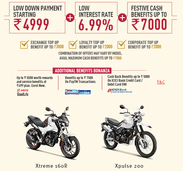 Diwali 2020: Hero MotoCorp Bikes & Scooters Festive On Benefits, Cashback & Discounts Available On Select Models