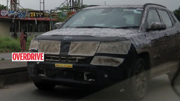 Jeep Compass 7-Seater SUV Spied Testing In India: Will Rival The Toyota Fortuner