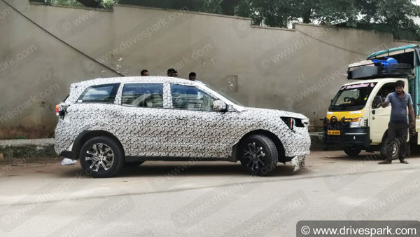 Spy Pics: New Mahindra XUV500 Spotted Testing In Bangalore Ahead Of Launch