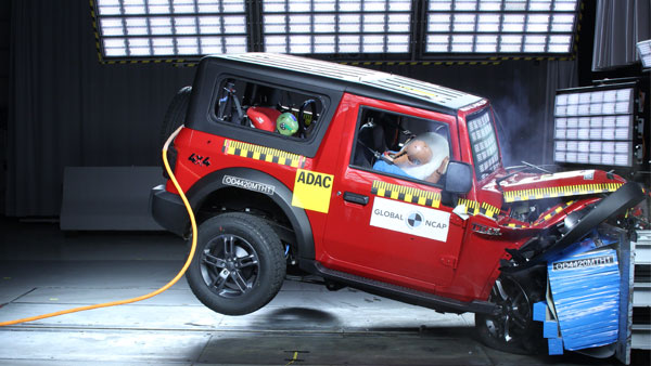 Mahindra Thar Secures Four-Star Rating At Global NCAP Crash Tests: Watch The Test Video Here!
