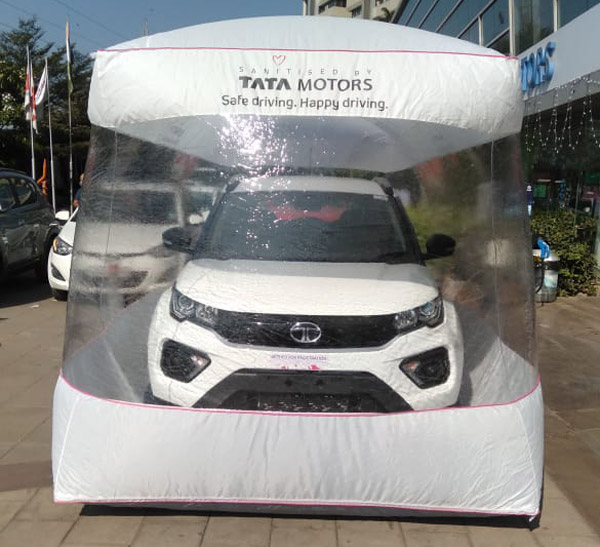 Tata Car Safety Bubble: Company Keeps Customer Cars In Sanitised Air Enclosure At The Time Of Delivery