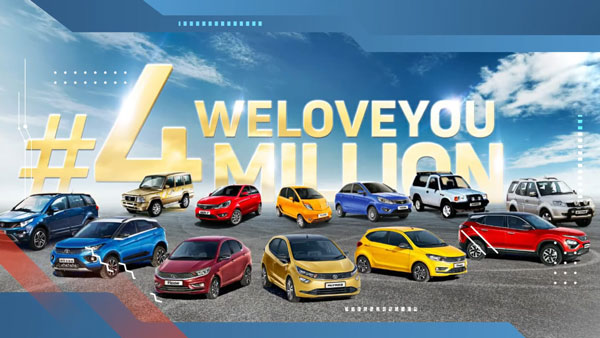 Tata Motors Achieves New Milestone With 4 Million Passenger Vehicles Sales In India