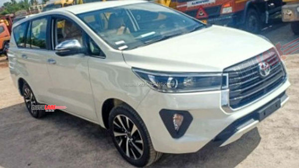 Toyota Innova Facelift (2021) Spotted At Dealer Stockyard In India Ahead Of Launch: Details