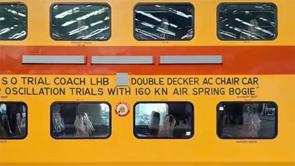 Double-Decker Train With 160Km/h Top-Speed Developed By RCF Kapurthala: Will Connect Busiest Routes Across India