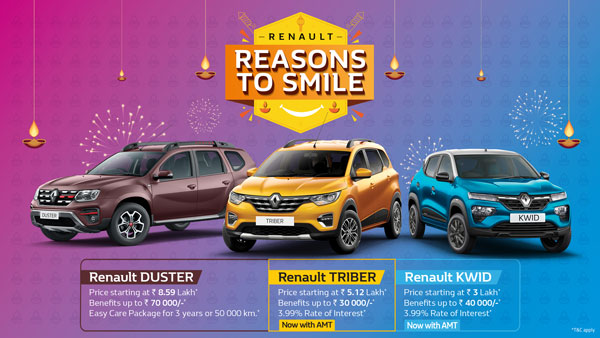 Renault Offers Discounts Up To Rs 1 Lakh On Its BS6 Range: Read More To Find Out