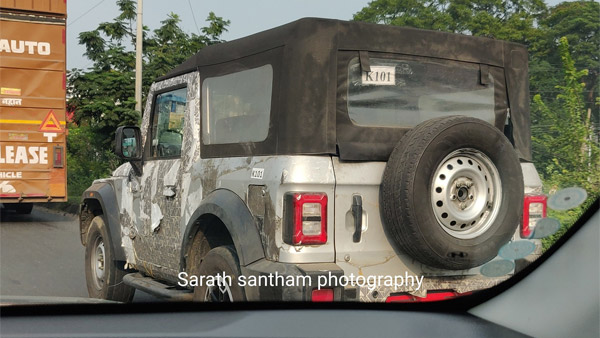 Spy Pics: Mahindra Thar Spotted Testing In New Silver Paint Scheme With Partial Camouflage