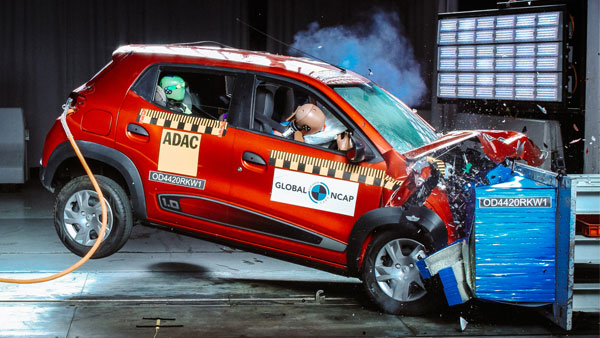 Made-in-India Renault Kwid Scores 2 Stars Global NCAP Safety Rating In Africa