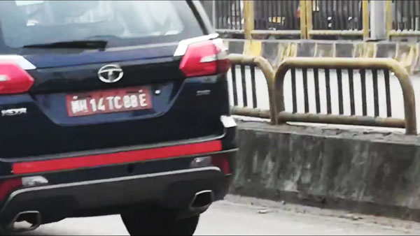 Spy Pics: Tata Hexa BS6 4X4 MUV Spotted Testing In Pune Ahead Of Launch