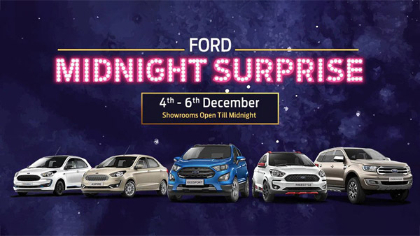 Ford Cars Midnight Surprise Campaign Introduced In India: Here Are All Details