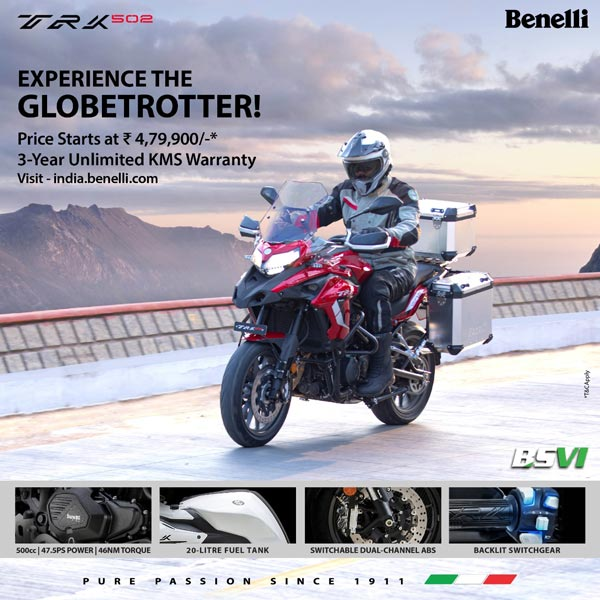 Benelli TRK 502 BS6 (2021) Launched In India At Rs 4.79 Lakh: Specs, Features, Bookings, Deliveries & Other Details