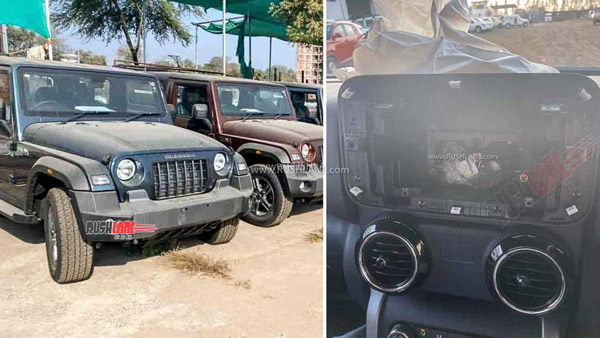 Mahindra Thar Spotted Without Infotainment System