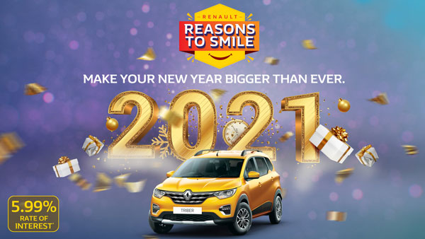 Renault Car Discounts & New Year Offers Announced For January 2021 On Kwid, Triber & Duster