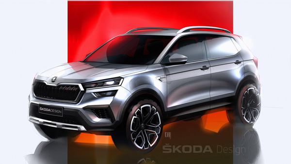 Skoda Kushaq Design Sketches Officially Revealed Ahead Of World Premiere: Here Are The Details!