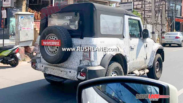 Mahindra Thar Spotted Testing With Side Facing Rear Seats: Here Are The Details!