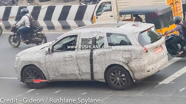 Mahindra XUV700 Spied Testing Revealing New Features Ahead Of Launch: Pics & Details