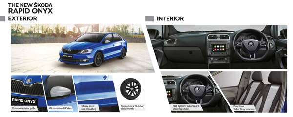 Skoda Rapid Monte Carlo & Onyx Variants To Get Minor Cosmetic Updates: List Of Changes, Interior, Exterior & Other Details