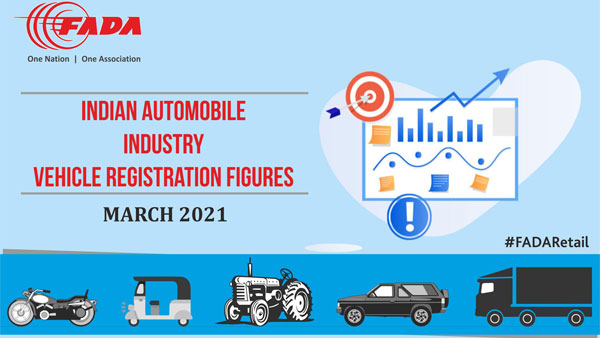 Automotive Registrations In March 2021 Decreases By Over 28 Percent Says FADA: Tractor Sales, Passenger Cars Sales, Automotive Sales & More