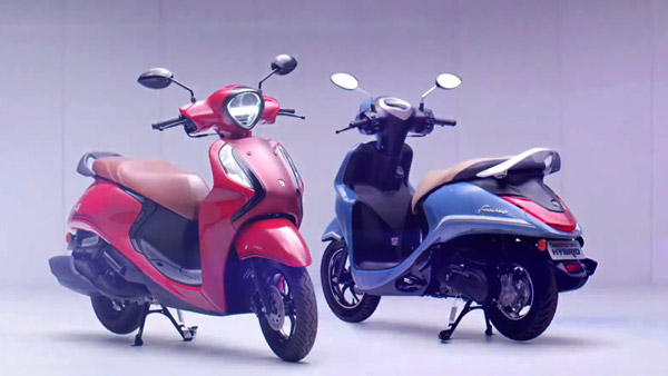 2021 Yamaha Fascino 125 Hybrid Unveiled In India — India's First Hybrid Scooter