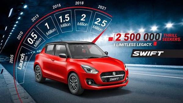 Maruti Suzuki Swift Sales Cross 25 Lakh Units: Another Milestone Achieved For The Brand