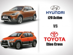 Hyundai I20 Active Vs Toyota Etios Cross Comparison