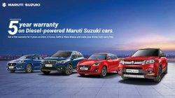 Maruti Suzuki Warranty Offers On Diesel Models 5 Year 1 Lakh Kilometres Details