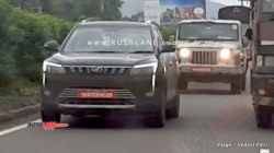 New Mahindra Thar Xuv300 Bs6 Spy Pics Testing Together Ahead Of Launch Next Year