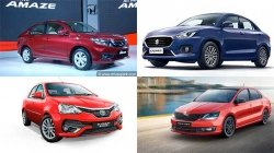 Top Selling Sedans India August Maruti Dzire Honda Amaze Top Ranked Report