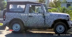 New Mahindra Thar Spied Again Ahead Of Expected India Launch Next Year