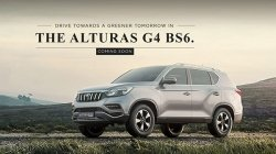 Mahindra Alturas G4 Bs6 Teaser Released India Launch Soon