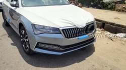 New Skoda Superb Laurin Klement Spotted At Dealership Ahead Of Its India Launch