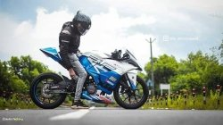 Ktm Rc 200 Modified With Parts From Autologue Design Wrapped By Zed One